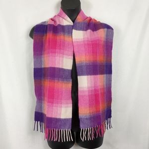 Charter club cashmere scarf pinks purples